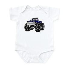 Blue MONSTER Truck Infant Bodysuit