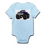 BLUE MONSTER TRUCK Infant Creeper