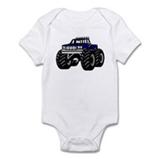 Blue MONSTER Truck Onesie