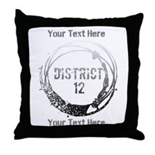 District 12 Your Text Throw Pillow