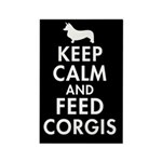 Keep Calm and Feed Corgis Rectangle Magnet