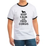 Keep Calm and Feed Corgis Ringer T