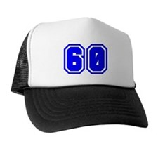 Varsity Uniform Number 60 (Blue) Trucker Hat