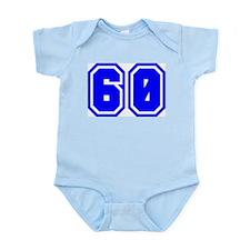 Varsity Uniform Number 60 (Blue) Infant Creeper