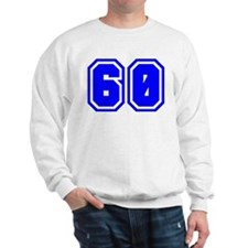Varsity Uniform Number 60 (Blue) Sweatshirt