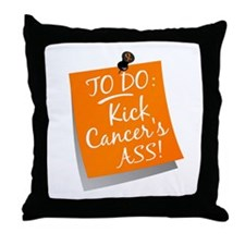 To Do 1 Leukemia Throw Pillow