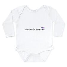 savasana Long Sleeve Infant Bodysuit