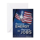 American Energy = American Jobs Greeting Card