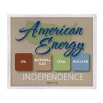 American Energy Independence Throw Blanket