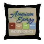 American Energy Independence Throw Pillow