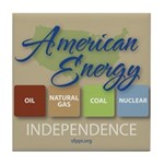 American Energy Independence Tile Coaster