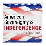 American Sovereignty & Independence Tile Coaster