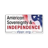 American Sovereignty & Independence Aluminum Licen