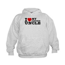 I love My Airforce Uncle Kids Hoodie
