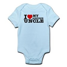 I love My Airforce Uncle Infant Bodysuit
