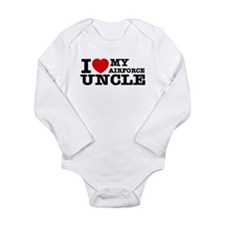 I love My Airforce Uncle Long Sleeve Infant Bodysu