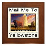 Mail Me To Yellowstone Framed Tile