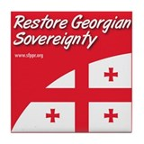 Restore Georgian Sovereignty Tile Coaster
