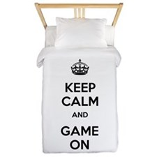 Keep Calm and Game On Twin Duvet