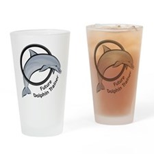 Future Dolphin Trainer Drinking Glass