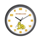 Yellow Dragold Wall Clock