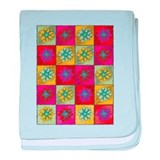 Retro Pop Art Colorful Flower baby blanket