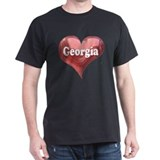 """Georgia"" Black T-Shirt"