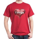 &quot;Georgia&quot; Black T-Shirt
