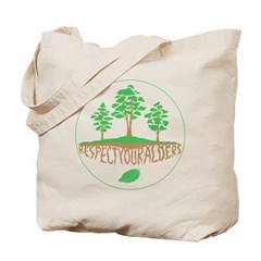 Respect Your Alders - Earth Day Tote Bag for Tree Huggers