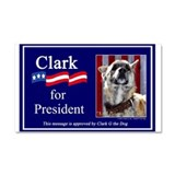 Clark G for President Car Magnet 20 x 12