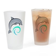 Jumping Dolphin Drinking Glass