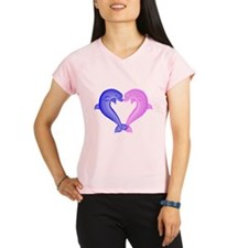 Colored Dolphin Heart Performance Dry T-Shirt
