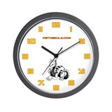 White Dragold Wall Clock