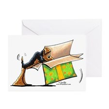 Airedale Christmas Surprises Greeting Cards (Pk of