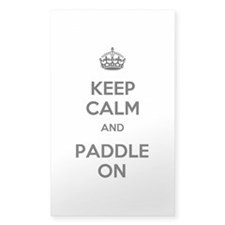 Keep Calm and Paddle On Decal