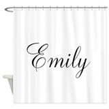 Personalized Black Script Shower Curtain