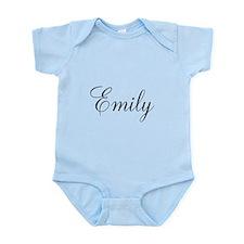 Personalized Black Script Infant Bodysuit
