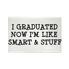 Smart & Stuff Grad Rectangle Magnet