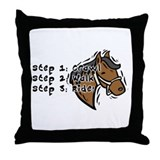 3 Steps Design Throw Pillow