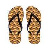 Cute Girl Monkey Face Flip Flops