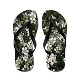 Small White Flower Flip Flops