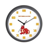 Red Dragold Wall Clock