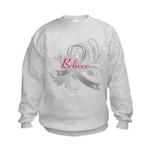 Brain Tumor BELIEVE Sweatshirt