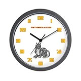 Grey Dragold Wall Clock