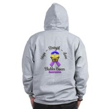 Strength Bladder Cancer Zip Hoodie