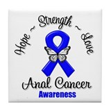 Strength Anal Cancer Tile Coaster
