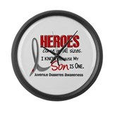 Heroes All Sizes Juv Diabetes Large Wall Clock