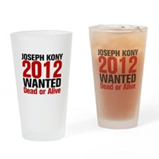 Kony 2012 Wanted Drinking Glass