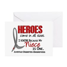 Heroes All Sizes Juv Diabetes Greeting Cards (Pk o