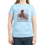 horse imagine your kidney (halftone) Women Light T